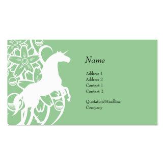 Tarjeta del perfil - unicornio decorativo tarjeta personal
