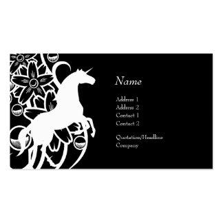 Tarjeta del perfil - unicornio decorativo tarjetas de visita