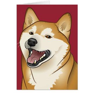 tarjeta del perro de Shiba Inu del feliz