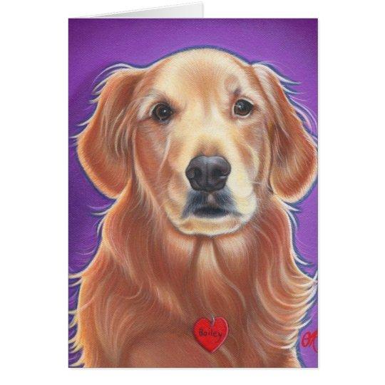 Tarjeta del perro salvaje del golden retriever