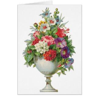 Tarjeta del personalizable del cuenco de la flor