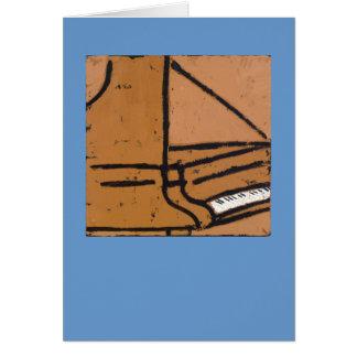 tarjeta del piano