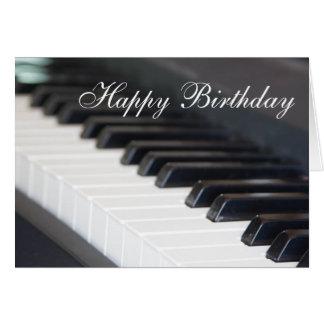 Tarjetas de felicitaci n piano feliz - Cumpleanos feliz piano ...