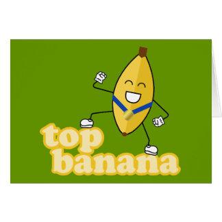 Tarjeta del plátano superior
