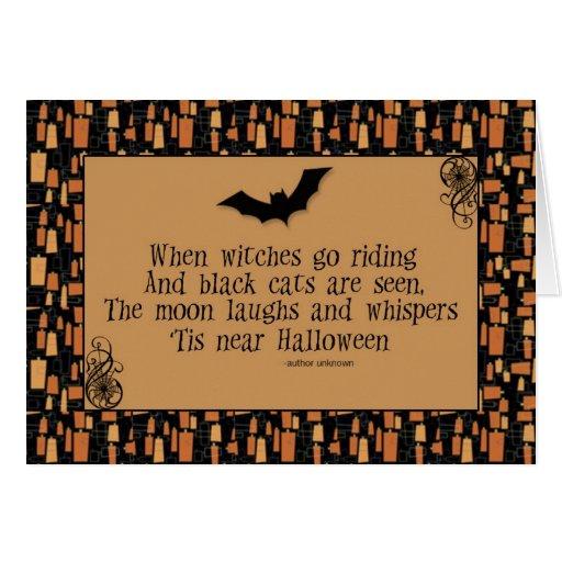 Tarjeta del poema de Halloween