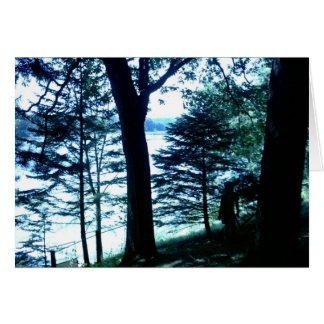 Tarjeta del poema de la belleza del lago goose (WI