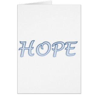 Tarjeta del poema de la esperanza