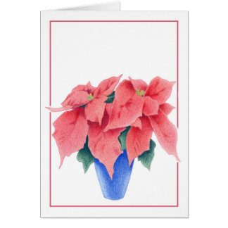 Tarjeta del Poinsettia