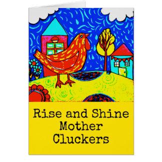 Tarjeta del pollo de Cluckers de la madre de la