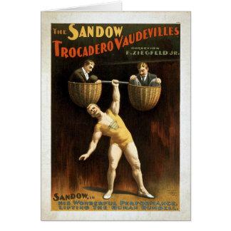 Tarjeta del poster del circo del vintage del KRW