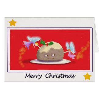 Tarjeta del pudín del navidad