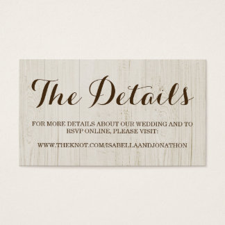 Tarjeta del recinto del Web site del boda