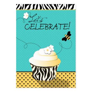 Tarjeta del recordatorio de la abeja del cumpleaño tarjeta de visita