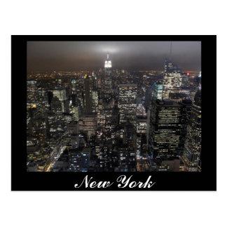 Tarjeta del recuerdo de Nueva York del paisaje