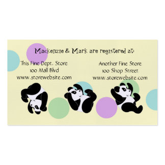 Tarjeta del registro de la fiesta de bienvenida al tarjetas de visita