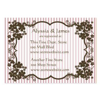 Tarjeta del registro de la fiesta de bienvenida al tarjetas de visita grandes