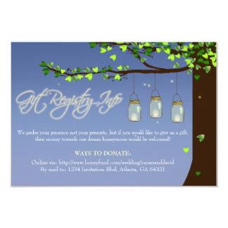 Tarjeta del registro de regalos Info del roble de Invitación 8,9 X 12,7 Cm