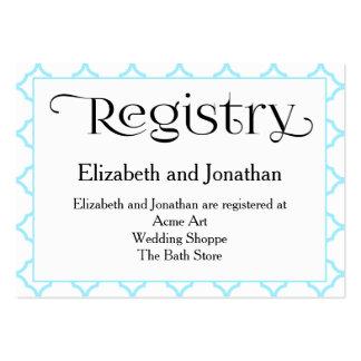 Tarjeta del registro del boda de Quatrefoil del Tarjetas De Visita Grandes