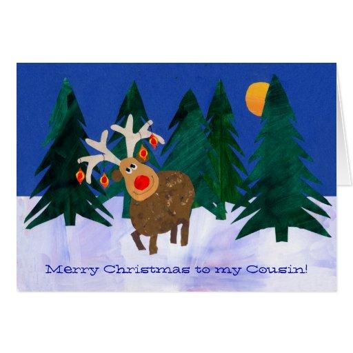 Tarjeta del reno del navidad a modificar para requ