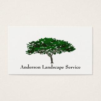 Tarjeta del retiro del árbol del paisaje