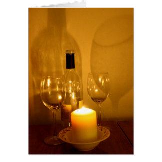 Tarjeta del retiro del vino y de los vidrios