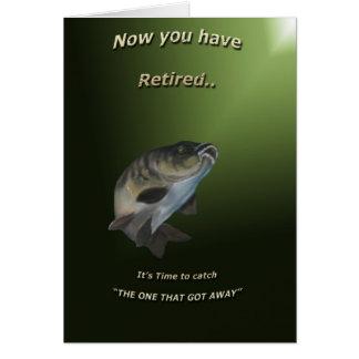 Tarjeta del retiro. (Pesca de la carpa)