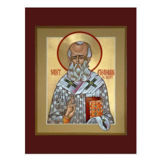 Tarjeta del rezo de Athanasius del santo