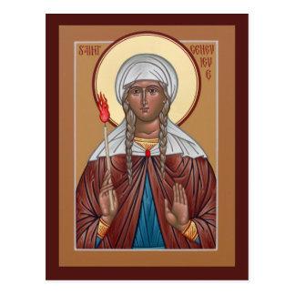 Tarjeta del rezo de Genevieve del santo