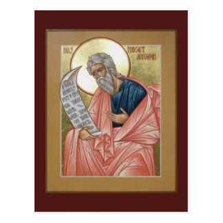 Tarjeta del rezo de Jeremiah del profeta