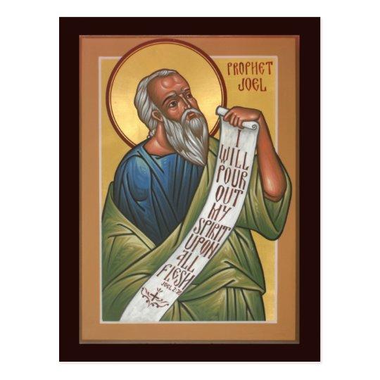 Tarjeta del rezo de Joel del profeta