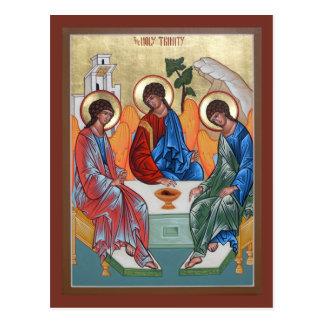 Tarjeta del rezo de la trinidad santa