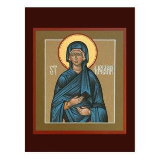 Tarjeta del rezo de Melania del santo