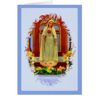Tarjeta del rezo de Memorare - imagen de Fátima