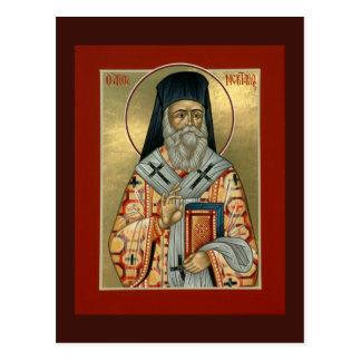 Tarjeta del rezo de Nektarios del santo