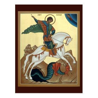 Tarjeta del rezo de San Jorge