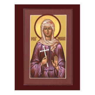 Tarjeta del rezo de Valentina del santo