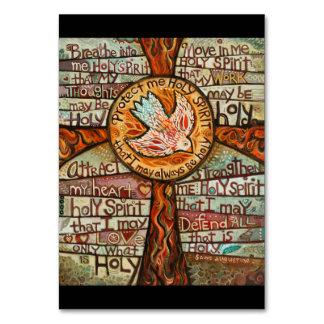 Tarjeta del rezo del Espíritu Santo