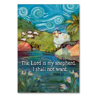 Tarjeta del rezo del salmo 23