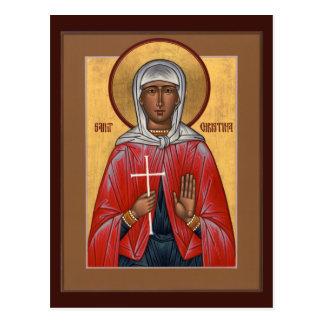 Tarjeta del rezo del St. Christina