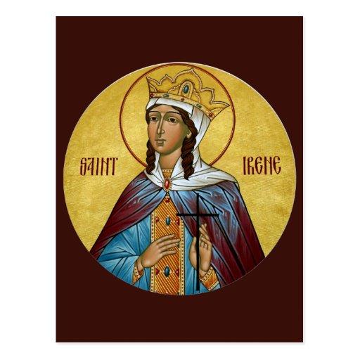 Tarjeta del rezo del St. Irene Tarjetas Postales