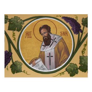 Tarjeta del rezo del St. Sava