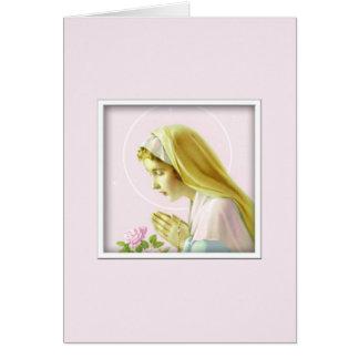 Tarjeta del rezo del Virgen María