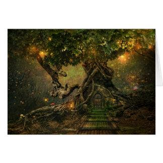 tarjeta del scape del árbol