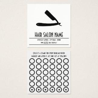 tarjeta del sello de la maquinilla de afeitar
