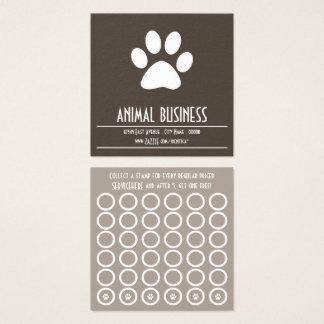 tarjeta del sello de la pata del mascota