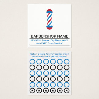 tarjeta del sello del polo de la barbería