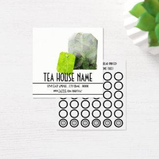 tarjeta del sello del té