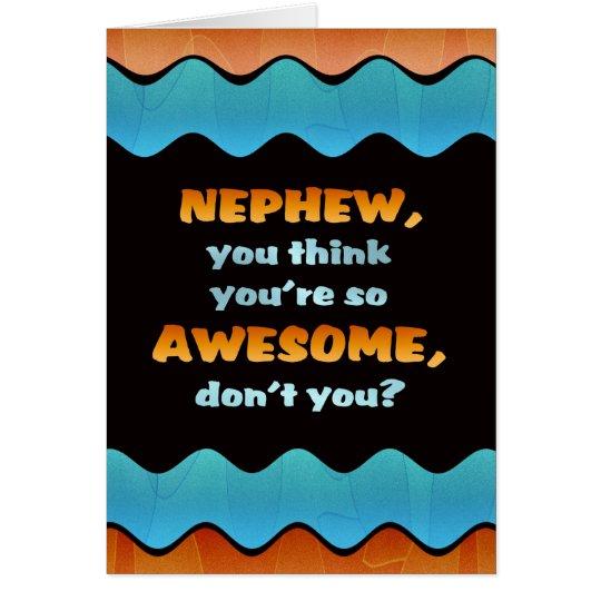 Tarjeta del sobrino de /Awesome de la tarjeta del