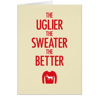 Tarjeta del suéter del navidad