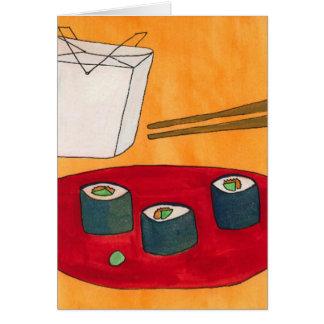 tarjeta del sushi